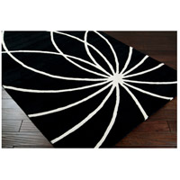 Surya FM7072-58 Forum 96 X 60 inch Black and Neutral Area Rug, Wool alternative photo thumbnail