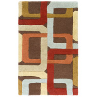Surya FM7106-23 Forum 36 X 24 inch Red and Brown Area Rug, Wool photo thumbnail
