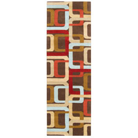 Surya FM7106-268 Forum 96 X 30 inch Red and Brown Runner, Wool photo thumbnail