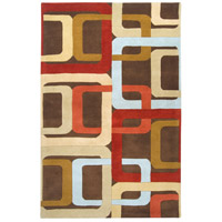 Surya FM7106-58 Forum 96 X 60 inch Red and Brown Area Rug, Wool photo thumbnail