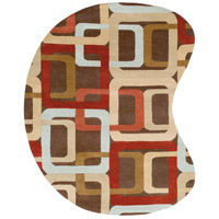 Surya FM7106-810KDNY Forum 120 X 96 inch Red and Brown Area Rug, Wool photo thumbnail