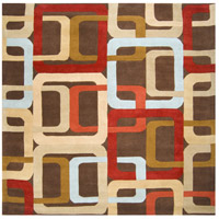 Surya FM7106-8SQ Forum 96 X 96 inch Red and Brown Area Rug, Wool photo thumbnail