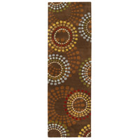 Surya FM7107-268 Forum 96 X 30 inch Brown and Red Runner, Wool photo thumbnail