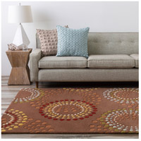 Surya FM7107-99SQ Forum 117 X 117 inch Brown and Red Area Rug, Wool alternative photo thumbnail