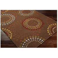 Surya FM7107-69 Forum 108 X 72 inch Brown and Red Area Rug, Wool alternative photo thumbnail