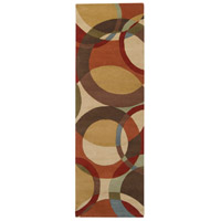 Surya FM7108-268 Forum 96 X 30 inch Brown and Brown Runner, Wool photo thumbnail