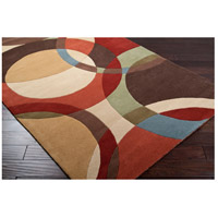 Surya FM7108-6RD Forum 72 inch Brown and Brown Area Rug, Wool alternative photo thumbnail