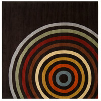 Surya FM7138-6SQ Forum 72 X 72 inch Brown and Orange Area Rug, Wool photo thumbnail