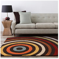 Surya FM7138-23 Forum 36 X 24 inch Brown and Orange Area Rug, Wool alternative photo thumbnail