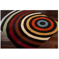 Surya FM7138-8RD Forum 96 inch Brown and Orange Area Rug, Wool alternative photo thumbnail