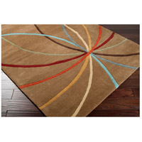 Surya FM7140-4RD Forum 48 inch Brown and Brown Area Rug, Wool alternative photo thumbnail