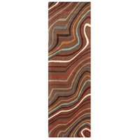 Surya FM7155-268 Forum 96 X 30 inch Red and Brown Runner, Wool photo thumbnail