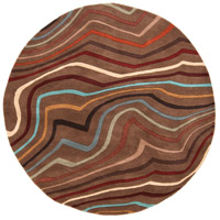 Surya FM7155-6RD Forum 72 inch Red and Brown Area Rug, Wool photo thumbnail