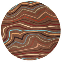Surya FM7155-4RD Forum 48 inch Red and Brown Area Rug, Wool photo thumbnail