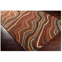 Surya FM7155-4RD Forum 48 inch Red and Brown Area Rug, Wool alternative photo thumbnail