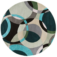 Surya FM7157-8RD Forum 96 inch Green and Neutral Area Rug, Wool photo thumbnail