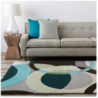 Surya FM7157-8RD Forum 96 inch Green and Neutral Area Rug, Wool alternative photo thumbnail