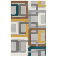 Surya FM7159-58 Forum 96 X 60 inch Green and Gray Area Rug, Wool photo thumbnail