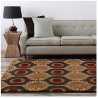 Surya FM7170-1215 Forum 180 X 144 inch Brown and Brown Area Rug, Wool alternative photo thumbnail