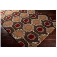 Surya FM7170-8RD Forum 96 inch Brown and Brown Area Rug, Wool alternative photo thumbnail