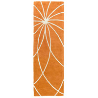 Surya FM7175-268 Forum 96 X 30 inch Orange and Neutral Runner, Wool photo thumbnail
