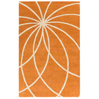 Surya FM7175-58 Forum 96 X 60 inch Orange and Neutral Area Rug, Wool photo thumbnail