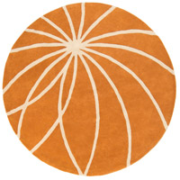 Surya FM7175-6RD Forum 72 inch Orange and Neutral Area Rug, Wool photo thumbnail