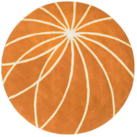 Surya FM7175-4RD Forum 48 inch Orange and Neutral Area Rug, Wool photo thumbnail