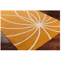 Surya FM7175-4RD Forum 48 inch Orange and Neutral Area Rug, Wool alternative photo thumbnail