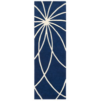 Surya FM7186-312 Forum 144 X 36 inch Blue and Neutral Runner, Wool photo thumbnail