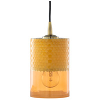 Surya FNB-001 Finsbury 1 Light 5 inch Saffron Pendant Ceiling Light