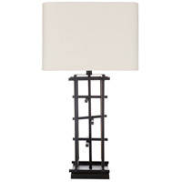 Surya FRJ-001 Freja 30 inch 100 watt Black/Cream Table Lighting Portable Light