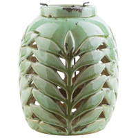 Surya FRN222-M Fern 9 X 7 inch Green and Green Outdoor Decorative Lantern photo thumbnail