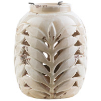 Fern 9 X 7 inch White and Grey Outdoor Decorative Lantern