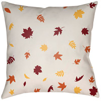 Surya FROND001-2020 Falling Leaves 20 X 20 inch White and Red Outdoor Throw Pillow photo thumbnail