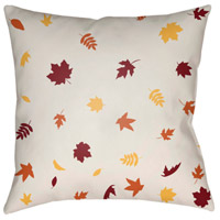 Surya FROND001-2020 Falling Leaves 20 X 20 inch White and Red Outdoor Throw Pillow alternative photo thumbnail