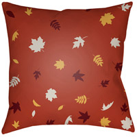 Surya FROND002-2020 Falling Leaves 20 X 20 inch Red and White Outdoor Throw Pillow photo thumbnail
