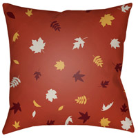 Surya FROND002-2020 Falling Leaves 20 X 20 inch Red and White Outdoor Throw Pillow alternative photo thumbnail