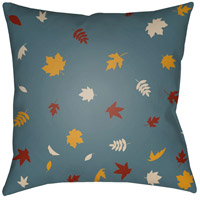 Surya FROND003-2020 Falling Leaves 20 X 20 inch Blue and Yellow Outdoor Throw Pillow photo thumbnail