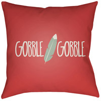 Surya FTH003-2020 Feather 20 X 20 inch Red and Green Outdoor Throw Pillow photo thumbnail