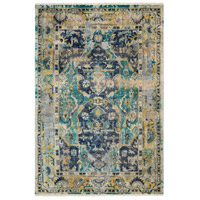 Surya FVL1001-69 Festival 108 X 72 inch Blue and Blue Area Rug, Wool photo thumbnail