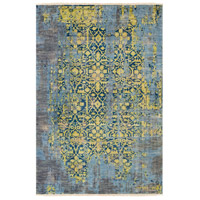 Surya FVL1003-23 Festival 36 X 24 inch Green and Blue Area Rug, Wool photo thumbnail