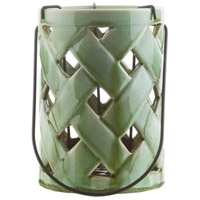 Surya GLL311-M Galilee 12 X 7 inch Green Outdoor Decorative Lantern photo thumbnail