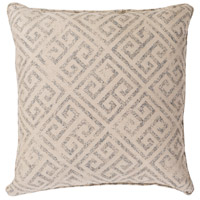 Geonna 16 X 16 inch Off-White and Brown Outdoor Pillow Cover
