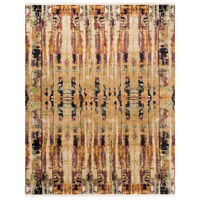 Govandi 120 X 96 inch Brown and Orange Area Rug, Silk