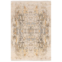 Govandi 108 X 72 inch Gray and Brown Area Rug, Silk