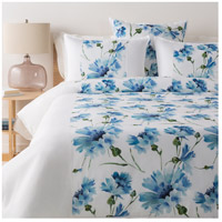 Gardenia White and Green Duvet Set in Full/Queen, Full or Queen