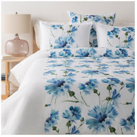 Gardenia White and Green Duvet Set in King/CA King, King or CA King