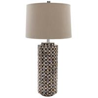 Surya GWY100-TBL Greenway 32 inch 100 watt Shell Table Lamp Portable Light