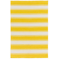 Habersham 90 X 60 inch Yellow and Neutral Outdoor Area Rug, PET Yarn